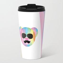 Punk Rainbow Bondage Bear Travel Mug