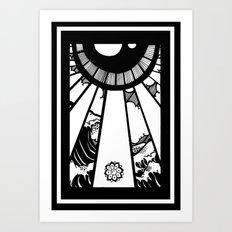 EL MAR LAS NUVES Y UN OJO Art Print