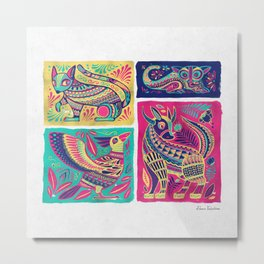 Alebrijes Animals - Mexican Pink Metal Print