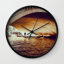 Rialto Bridge, Venice Italy Wall Clock