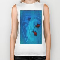 ships Biker Tanks featuring FISH&SHIPS by lucborell