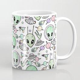 Alien and UFO pattern Coffee Mug