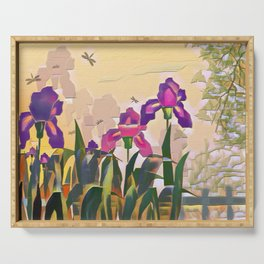 """A series of """"Favorite pillow"""" """"Irises"""" Serving Tray"""