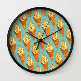Ice Cream Pattern - Vanilla Wall Clock