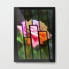 Pink Roses in Anzures 3 Tinted 1 Metal Print