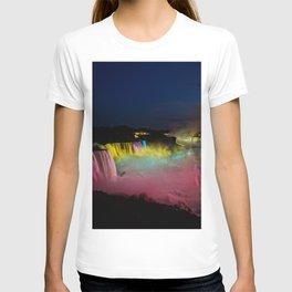 Niagara Falls Illumination Green T-shirt