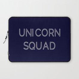 Unicorn Squad - Navy Blue and White Laptop Sleeve