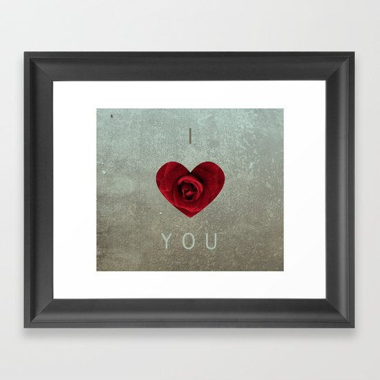 ily Framed Art Print