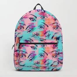Mascara and colored eye shadow Pattern Backpack