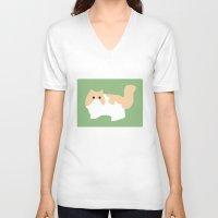 persian V-neck T-shirts featuring Persian by Fandango089