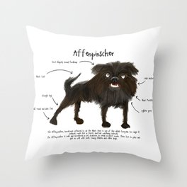 Affenpinscher Throw Pillow