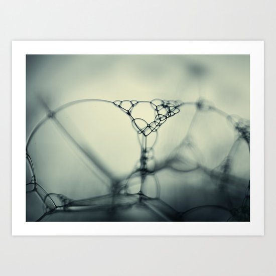 bubbles in teal Art Print