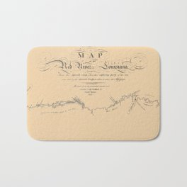 Map of the Red River 1806 Bath Mat