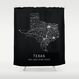 Texas State Road Map Shower Curtain