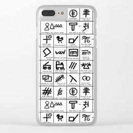 Hobo Code Clear iPhone Case