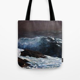Winslow Homer - Sunlight on the Coast Tote Bag