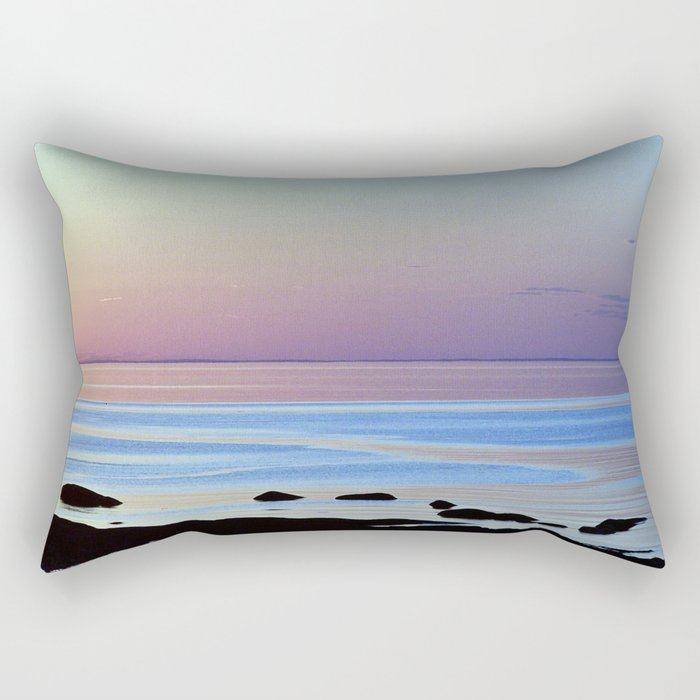 Swirling Currents Rectangular Pillow