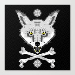 Silver Fox Geometric Canvas Print