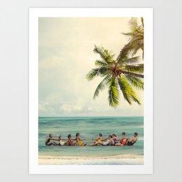 Vintage Summer Game Art Print