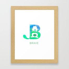 Brave Big Letter 2 Framed Art Print
