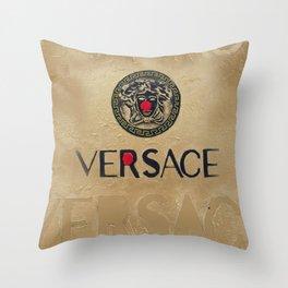 V - VER-SACE Throw Pillow