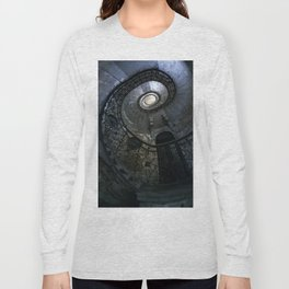Spiral Staircase in blue and gray tones Long Sleeve T-shirt