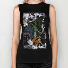Sunset Moth Wing Abstract Biker Tank