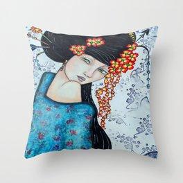 Geisha Girl #2 Throw Pillow
