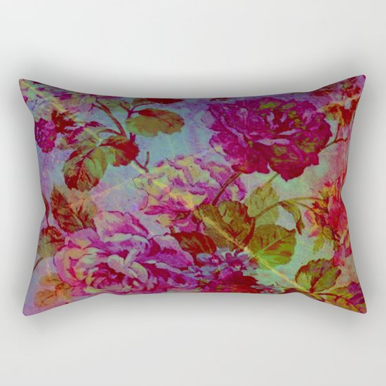 vintage floral Rectangular Pillow
