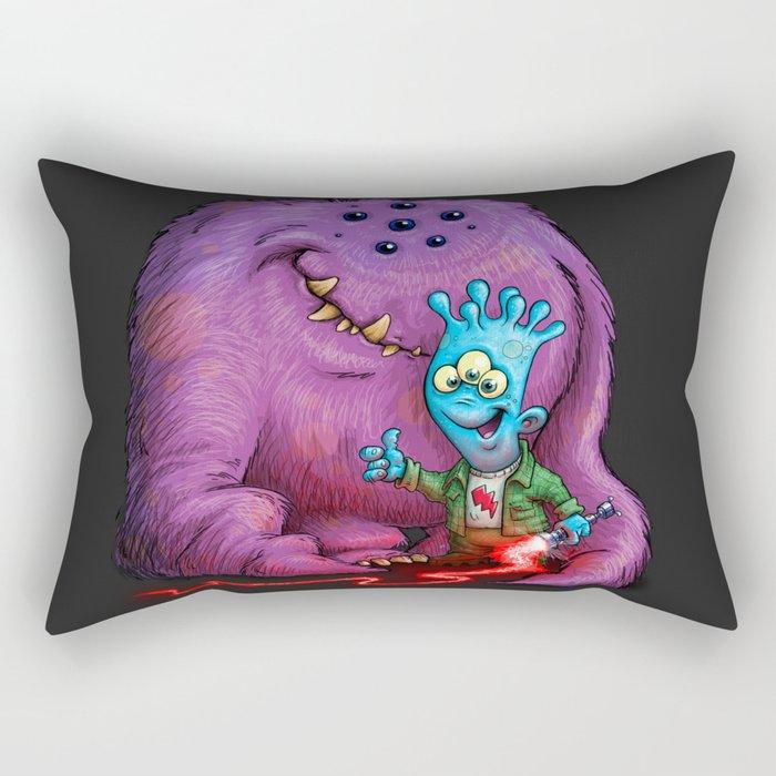 A boy and his Grogg Rectangular Pillow