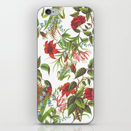Ruby & Cerulean Floral iPhone Skin