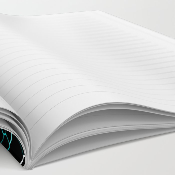 Aqua Crackle Notebook