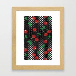 Cherry Pin-Up Framed Art Print