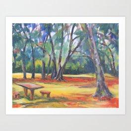 Under the Oaks Art Print