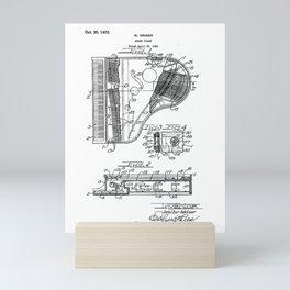 Grand Piano old patent vintage illustration Mini Art Print