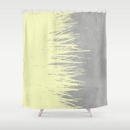 Concrete Fringe Yellow Shower Curtain