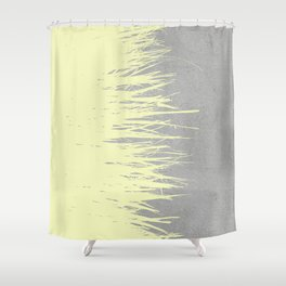 Concrete Fringe Yellow Shower Curtain
