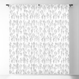 Cactus in White Palette Blackout Curtain