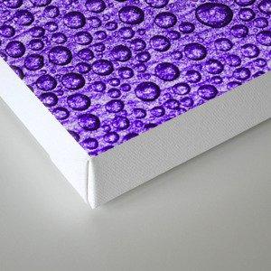 Water Condensation 05 Violet Canvas Print