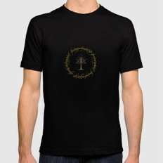 Lord Of The Ring Circle MEDIUM Mens Fitted Tee Black