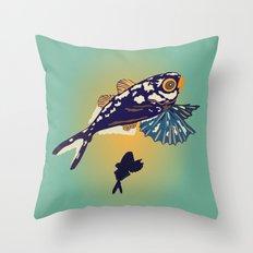 Ocean Fish Throw Pillow