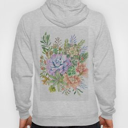 Watercolor Succulent #53 Hoody