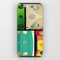 vw iPhone & iPod Skins featuring VW Collage by RDelean