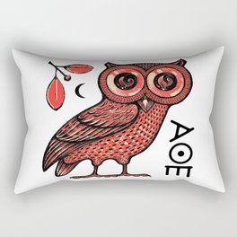 Athena's Owl Rectangular Pillow