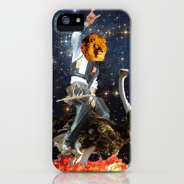 Space Lion iPhone Case