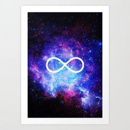 Infinity nebula Art Print