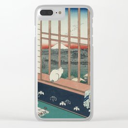 Asakusa Rice Fields, Hiroshige Clear iPhone Case