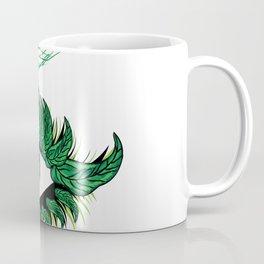 Spring eye with green leaves Coffee Mug