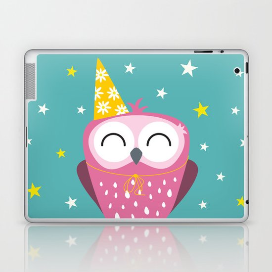 Party Owl Laptop & iPad Skin