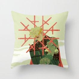8 of Swords Throw Pillow
